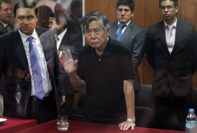 El expresidente de PErú Alberto Fujimori, 2013.
