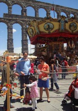 Segovia durante la celebración de Titirimundi