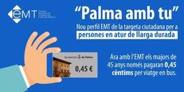 La EMT repartirá 4.000 folletos para explicar su campaña 'Palma amb tu' para parados mayores de 45 años