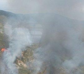 Controlado el incendio forestal en Sierra Alhamilla, que solo ha afectado a suelo militar