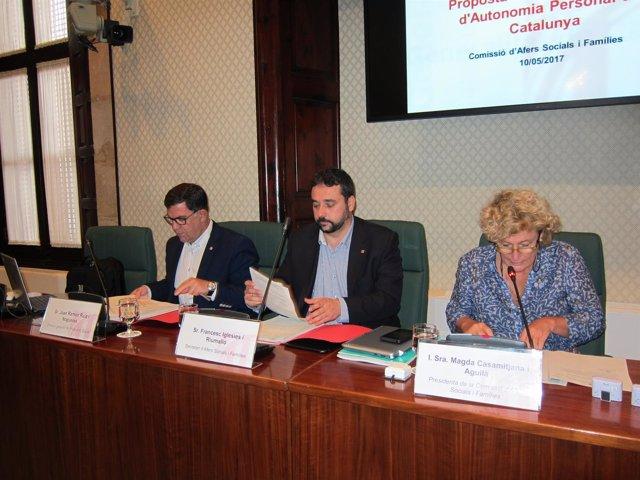 El secr.De Asuntos Sociales y Familias de la Generalitat F.Iglesies