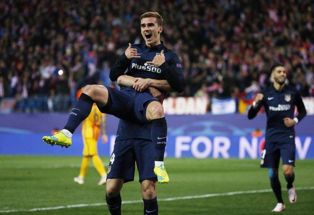 Antoine Griezmann celebra el gol ante el FC Barcelona