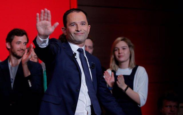 Benoit Hamon tras la primera vuelta de las elecciones en Francia