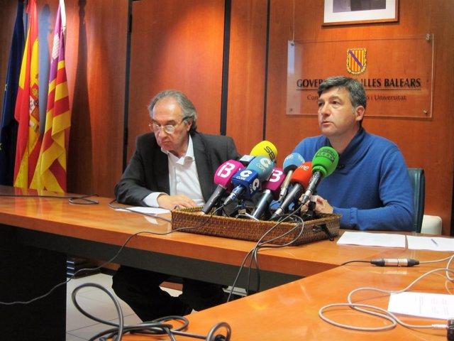 El conseller March y el director general Jaume Ribas