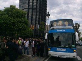 El Tramabús llega a Cataluña con la efigie de Pujol Ferrusola, Millet y la infanta Cristina