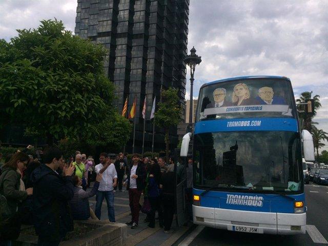 El Tramabús de Podemos en Barcelona