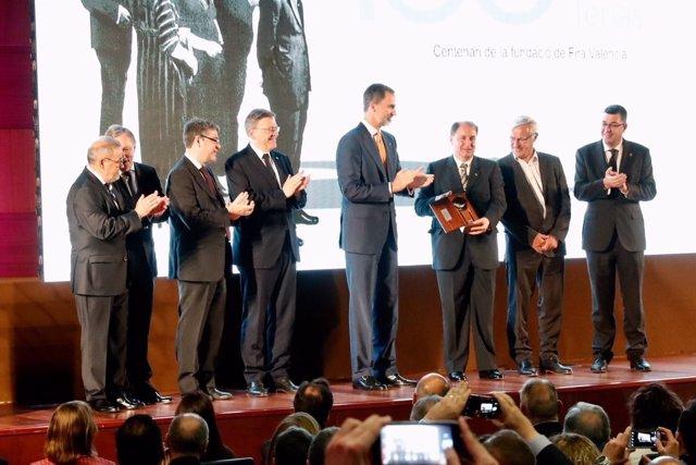 El Rey Felipe VI en el acto de conmemoración del centenario de Feria Valencia