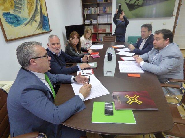 Reunión PRC-PSOE-Cs sobre ejecución del Presupuesto y cumplimiento pacto