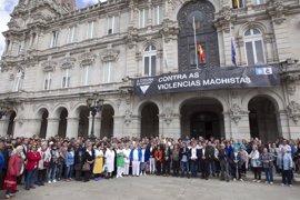 Unas 300 personas se concentran en A Coruña en apoyo a la familia del menor supuestamente asesinado por su padre