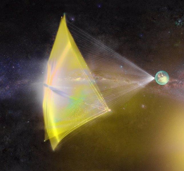 Recreación de vela interestelar de Breaktrough Starshot