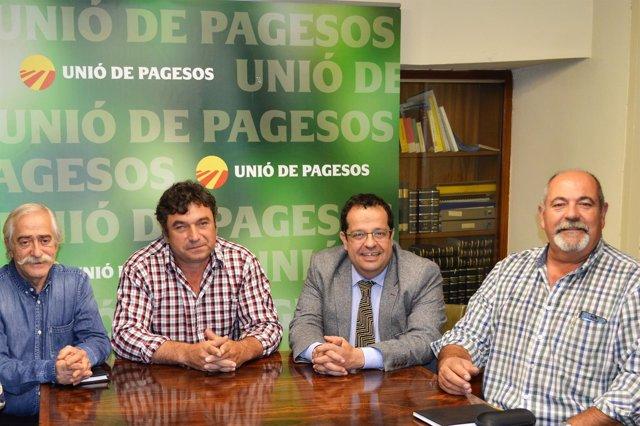 Reunión del Pacte pel Referèndum con Unió de Pagesos