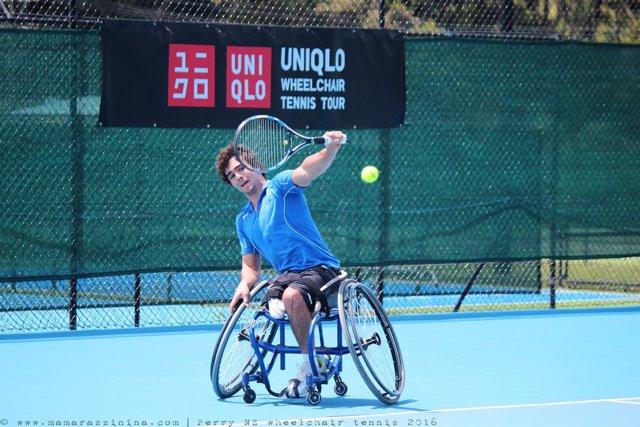 Dani Caverzaschi, jugador de tenis paralímpico
