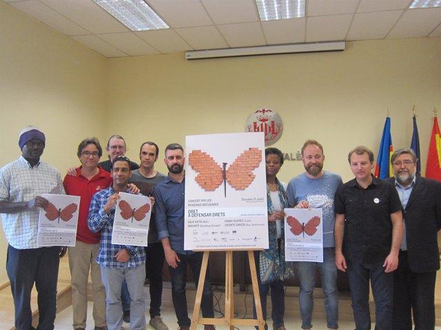 Presentación del concierto de Viveros solidario con los refugiados