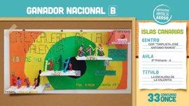 El CEIP Timplista José Antonio Ramos de Las Palmas de Gran Canaria gana el concurso escolar de la ONCE