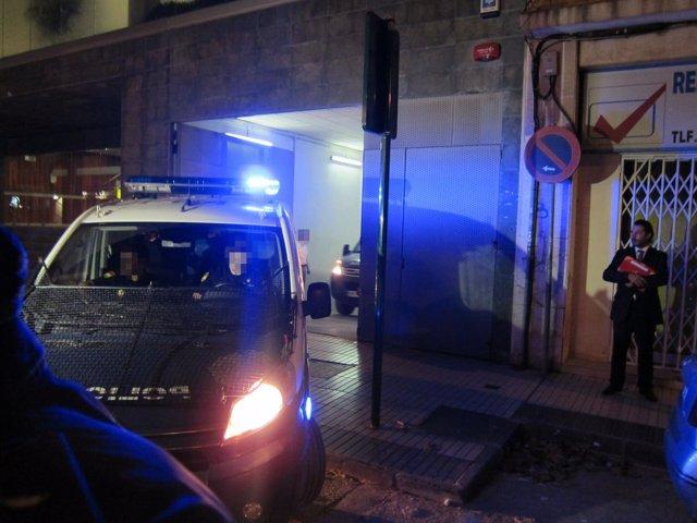 Traslado de los policías nacionales acusados de homicidio/asesinato en Cartagena