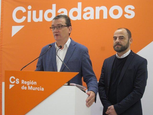Los diputados de Cs por la Región de Murcia, Garaulet y Martínez