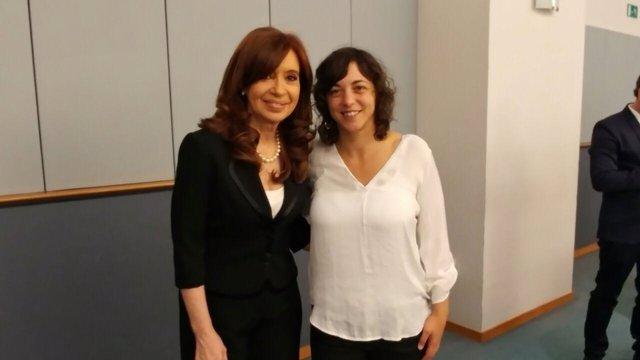 Cristina Fernández de Kirchner y Tania González