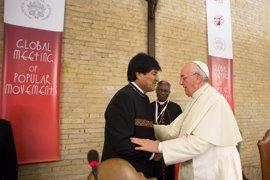 Morales pide al Papa que interceda por los nueve bolivianos detenidos en Chile