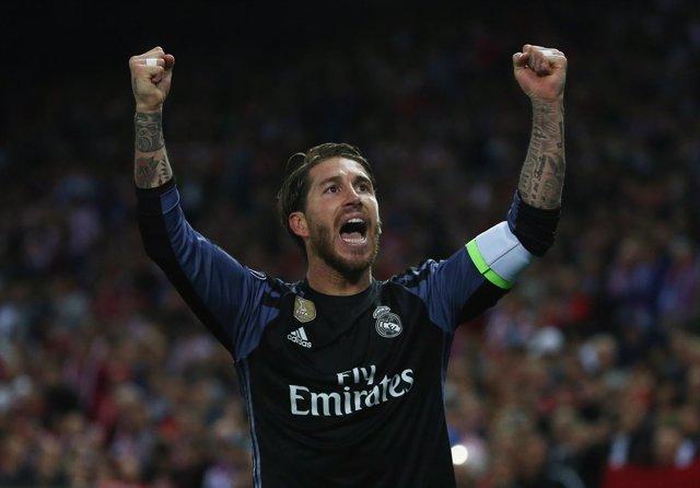El central y capitán del Real Madrid, Sergio Ramos