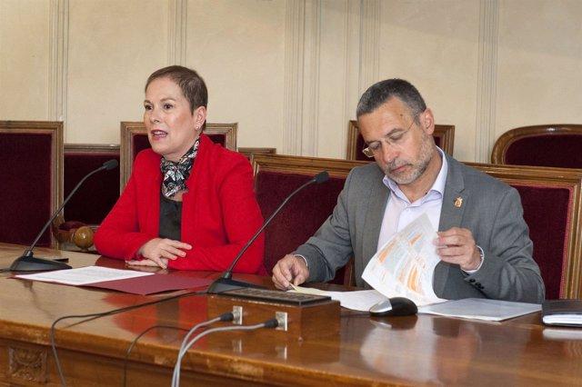 Uxue Barkos y Miguel Laparra