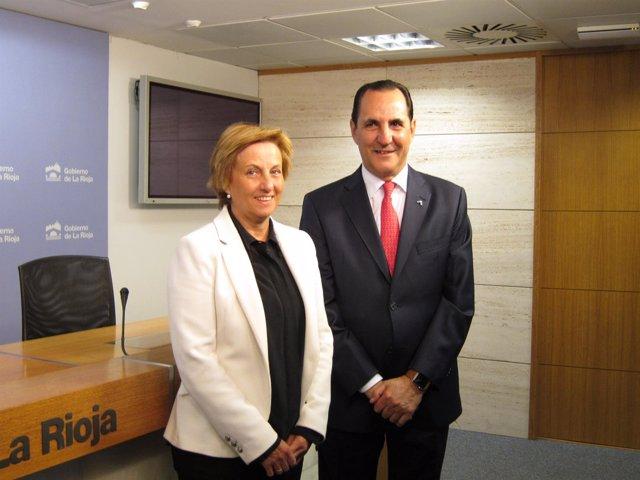 Consejera De Desarrollo Y Presidente De Iberaval Ofrecen Rueda De Prensa