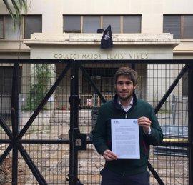 """El PP exige a la Generalitat una actuación """"urgente"""" para """"poner en valor"""" el Colegio Mayor Luis Vives"""