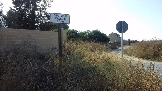 Una calle del Sector F.