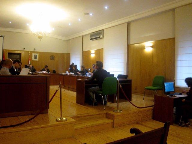 El empresario, durante su declaración en el juicio.