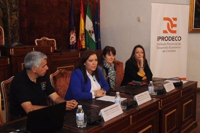 Carrillo durante la recepción a la delegación argentina