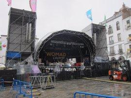 El festival Womad de Cáceres desafía a la lluvia y confía en no suspender ninguna de las 56 actividades previstas