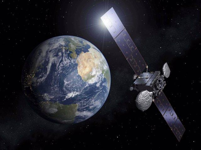 Imagen de un satelite de Hispasat.