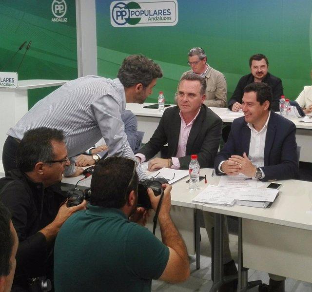 Juanma Moreno, hoy junto a Juan Bueno
