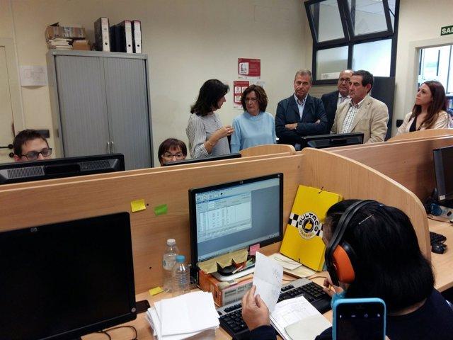 Broto ha visitado la sede de Somontano Social.
