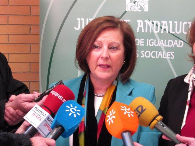 La consejera andaluza de Igualdad y Políticas Sociales, María José Sánchez Rubio