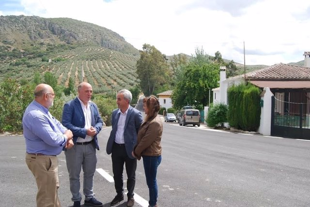 Ruiz (centro) e Izquierdo (dcha.) durante su encuentro