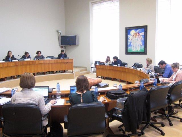Comisión de Pesca en el Parlamento de Galicia.