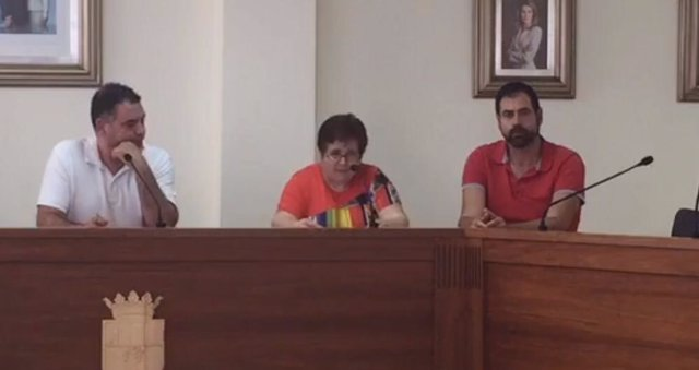 Bienvenida en al reuda de prensa de este jueves en San Miguel de Salinas