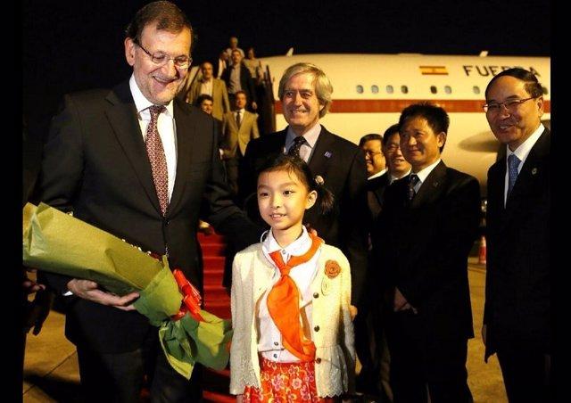 MAriano Rajoy llega a China