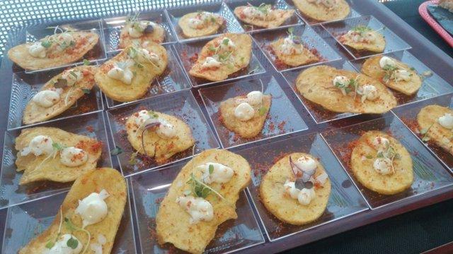 Platos elaborados en la demostración gastronómica celebrada en Expoliva.