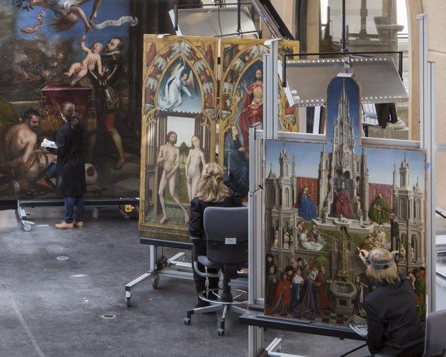 Taller de restauración. Museo Nacional del Prado