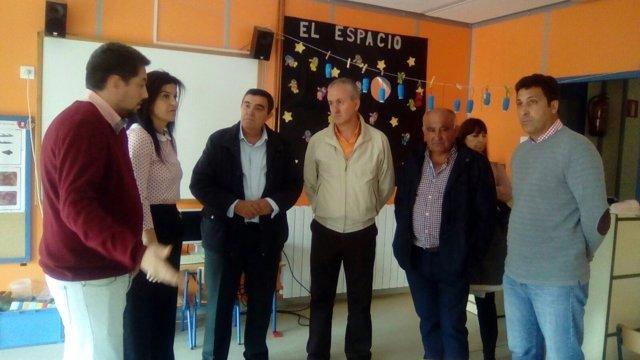 Visita al colegio de Rosal de la Frontera.
