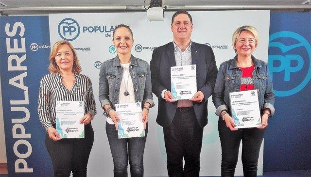 Ponentes de la ponencia social del PP de Almería