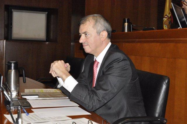 El consejero Javier Campoy