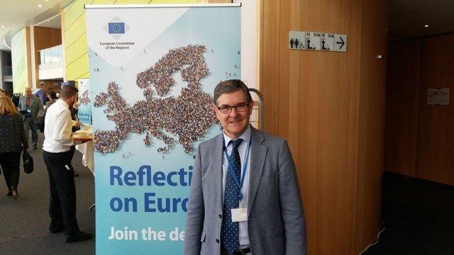 Consejero de Presidencia de Aragón en pleno del Comité Europeo de las Regiones