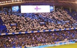 Antiviolencia impone la decimoctava sanción al Deportivo por permitir pancartas de 'Riazor Blues'