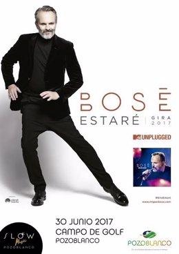 Cartel del concierto de Miguel Bosé