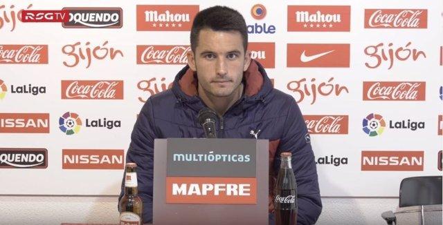 Isma López, jugador del Real Sporting de Gijón