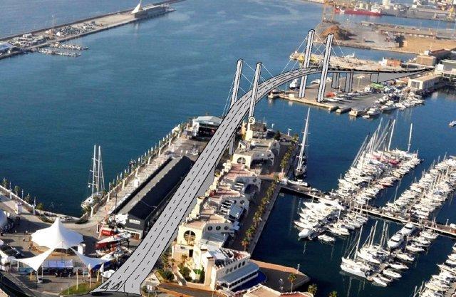 Imagen virtual del puente del plan Conecta