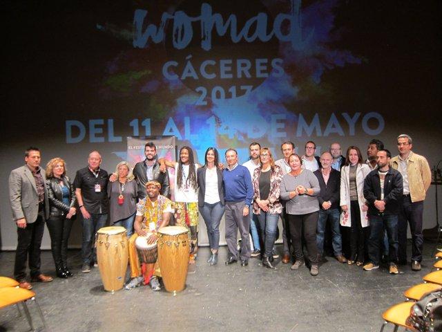 Inauguración del festival Womad en Cáceres
