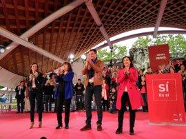 """Sánchez pide a sus simpatizantes una victoria """"rotunda"""" para lograr cambios """"rotundos"""" en el PSOE"""